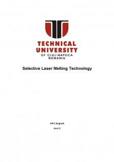 Selective laser melting technology - Pagina 1