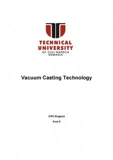 Vacuum casting technology - Pagina 1