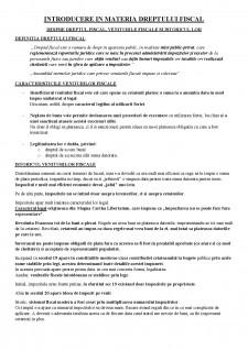 Introducere în materia dreptului fiscal - Pagina 1