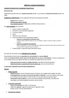 Dreptul Uniunii Europene I - Pagina 1
