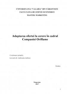 Adaptarea ofertei la cerere în cadrul companiei Oriflame - Pagina 2