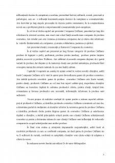 Adaptarea ofertei la cerere în cadrul companiei Oriflame - Pagina 5