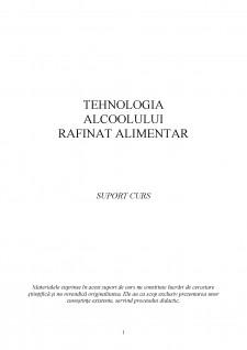 Tehnologia alcoolului rafinat alimentar - Pagina 1