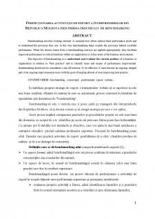 Perfecționarea activității de export a întreprinderilor din Republica Moldova prin prisma procesului de benchmarking - Pagina 1