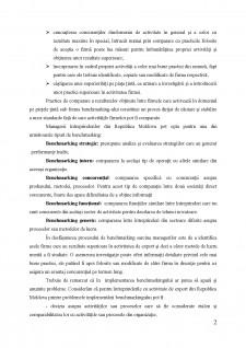 Perfecționarea activității de export a întreprinderilor din Republica Moldova prin prisma procesului de benchmarking - Pagina 2