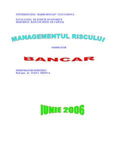 Managementul Riscului Bancar - Pagina 1