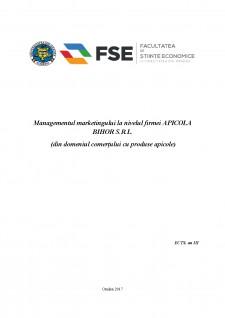 Managementul marketingului la nivelul firmei Apicola Bihor SRL - Pagina 1