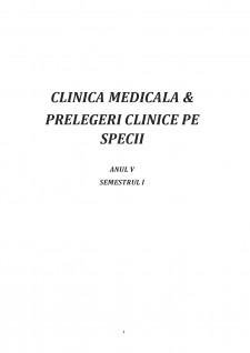 Clinica medicală și prelegeri clinice pe specii - Pagina 1