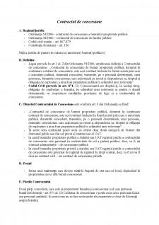 Contractul de concesiune - Pagina 1
