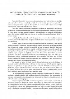 Dezvoltarea competențelor de comunicare orală în limba străină - Pagina 1