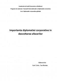 Importanța diplomației corporative în dezvoltarea afacerilor - Pagina 1