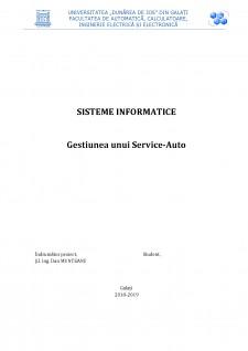 Gestiunea unui Service-Auto - Pagina 1