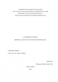 Repere ale divinului în poezia românească - Pagina 1