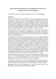 Some aspects regarding the underground storage of natural gas în saline deposits - Pagina 1