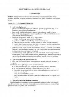Drept penal - partea generală I - Pagina 1