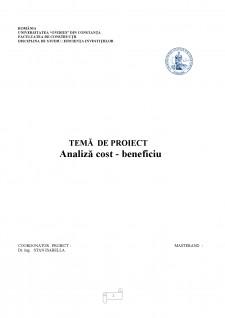 Analiză cost - beneficiu - Pagina 1
