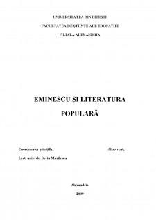 Eminescu și literatura populară - Pagina 1