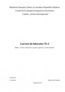 Izolarea rădăcinilor ecuațiilor algebrice și transcendente - Pagina 1
