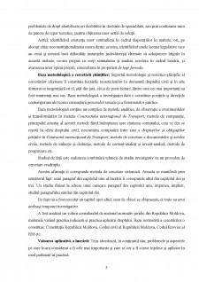 Particularitățile contractului comercial de transport internațional - Pagina 5