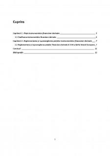 Reglementarea și supravegherea piețelor instrumentelor financiare derivate - Abordare comparativă - Pagina 2