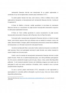 Reglementarea și supravegherea piețelor instrumentelor financiare derivate - Abordare comparativă - Pagina 5