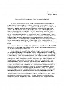 Prezentarea formelor de organizare a lecției de educație fizică și sport - Pagina 1