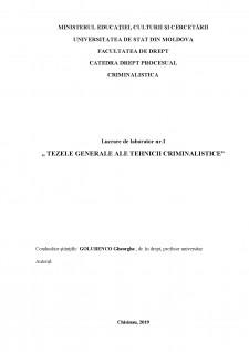 Tezele generale ale tehnicii criminalistice - Pagina 1