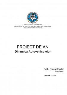 Dinamica Autovehiculelor - Renault laguna 1.9 - Pagina 1