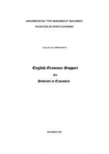 English grammar support for students în economics - Pagina 1