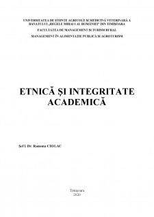 Etnică și integritate academică - Pagina 1