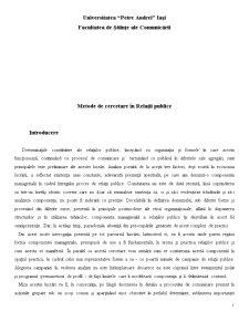 Metode de Cercetare în Relații Publice - Pagina 1