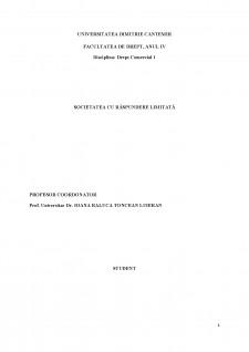 Societatea cu răspundere limitată - Pagina 1