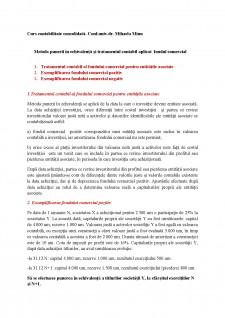 Metoda punerii în echivalență și tratamentul contabil aplicat fondul comercial - Pagina 1