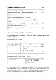 Metoda punerii în echivalență și tratamentul contabil aplicat fondul comercial - Pagina 2