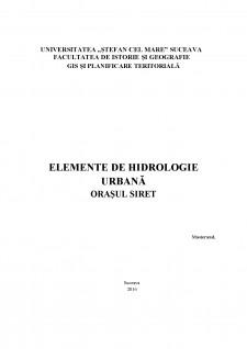 Elemente de hidrologie urbană - orașul Siret - Pagina 1