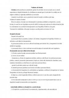 Noțiunea de licență - Pagina 1