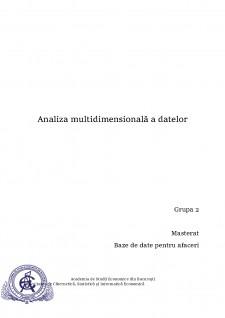 Analiza multidimensională a datelor - Pagina 1