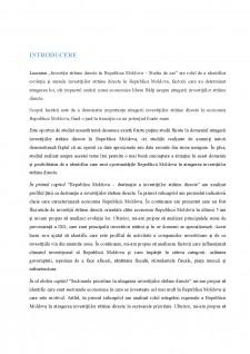 Investiții străine directe în Republica Moldova - Studiu de caz - Pagina 3