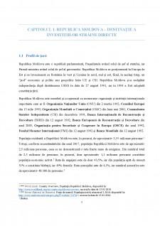 Investiții străine directe în Republica Moldova - Studiu de caz - Pagina 5