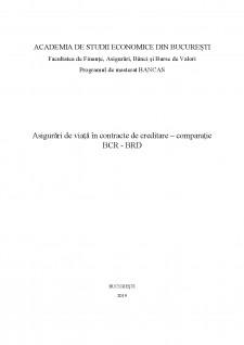 Asigurări de viață în contracte de creditare - comparație BCR - BRD - Pagina 1