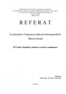 Republica Moldova ca stat de condamnare - Pagina 1