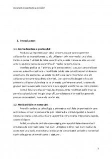 Documentul de specificație a cerințelor - Instant Messenger - Pagina 3