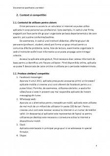 Documentul de specificație a cerințelor - Instant Messenger - Pagina 4