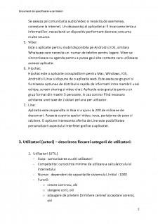 Documentul de specificație a cerințelor - Instant Messenger - Pagina 5