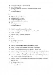 Teste grilă Contabilitate - Pagina 2