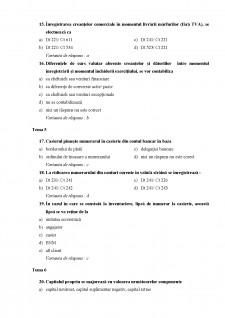 Teste grilă Contabilitate - Pagina 5