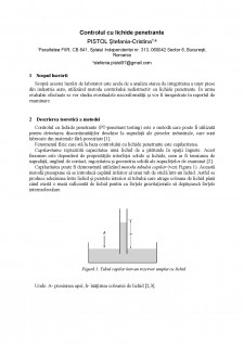 Control cu lichide penetrante - Pagina 1