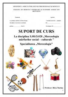 Merceologia mărfurilor social - culturale - Pagina 1