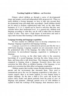 Teaching english to children - an overview - Pagina 1