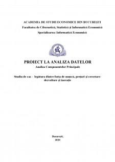 Analiza Componentelor Principale - Studiu de caz - legătura dintre forța de muncă, prețuri și cercetare-dezvoltare și inovație - Pagina 1